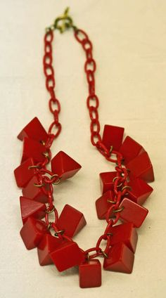 Celluloid and Bakelite Necklace ca. 1940