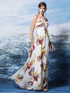 2017 ts couture® vaina vestido de noche   columna cabestro de gasa palabra  de longitud d351e1c2b235