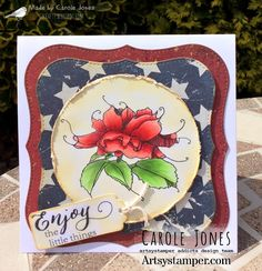 Craftilicious Creations: * Artsystamper: Red, White and Blue Distress Oxides, Copic Markers, Digital Stamps, Red White Blue, Vintage Photos, Badge, My Etsy Shop, Challenges, Cards