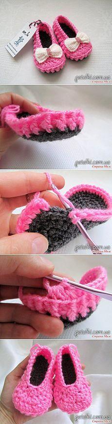 Booties crochet shoes. Description crochet