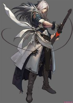 Long hair swordsman