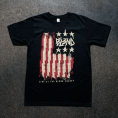 FLAG TEE Black t-shirt with DJ BL3ND Flag graphic.  #djbl3ndmerch #churchofmerch Dj, Flag, Tees, Mens Tops, T Shirt, Fashion, Tank Tops, Supreme T Shirt, Moda