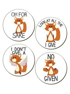 For fox sake! Keep the mug directly off the table! This hilarious 4 piece coaster set features the woodland animal as he casually declares, 'I don't give a fox' and 'No fox given'! So add these to your home and they're sure to gain some laughs from family and friends as you all sip on your hot beverages.