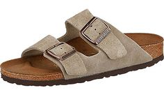 Birkenstock Arizona 2-Strap Suede Leather Sandals, Taupe, Unisex, 39 N EU Narrow Width - US Women 8-8.5 >>> Check out this great product.