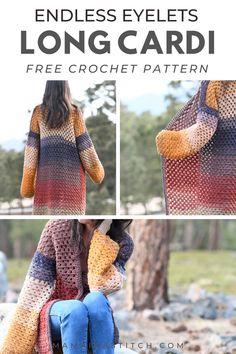 Crochet Cardigan Pattern, Crochet Shirt, Crochet Jacket, Crochet Patterns, Sweater Patterns, Crochet Ideas, Crochet Stitches, Quick Crochet, Crochet Winter