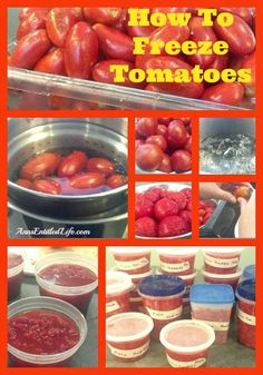 How To Freeze Tomatoes - Would you like to save some of that summer bounty for use over the winter? Learn how to freeze tomatoes for a change of pace from canned tomatoes. http://www.annsentitledlife.com/recipes/how-to-freeze-tomatoes/