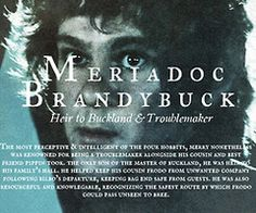 Meriadoc Brandybuck - Heir to Buckland  Troublemaker ~ Lord of the Rings