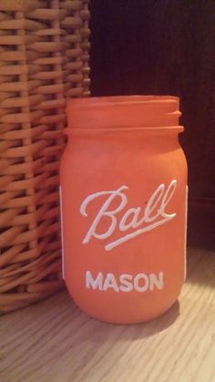 Tennessee orange painted Ball Mason Jar by EmilysJarDesigns
