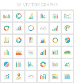 Data visualization infographic & Chart Free Collection of 36 Vector Graphs & Charts Infographic Description There are 36 different types of data Web Design, Graph Design, Chart Design, Flat Design Icons, Icon Design, Vector Graph, Vector Free, Powerpoint Design Templates, Dashboard Design
