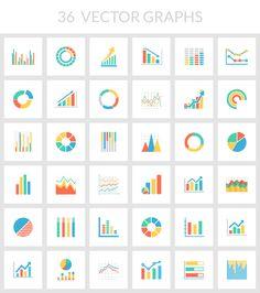 flat color vector chart graph illustrator svg photoshop psd