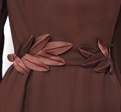 Your place to buy and sell all things handmade Brown Cocktail Dresses, Sewing Diy, Sewing Ideas, Espresso, 1950s, Cool Designs, Anne, Detail, Ladies Fashion