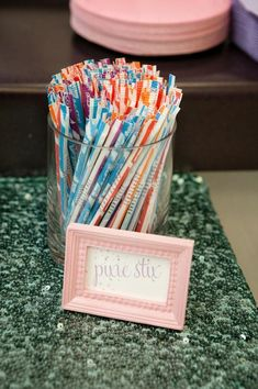 Haha pixie sticks...not sure about the extra sugar but cute.