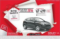 Visit Sisley Honda Today and Tear Open A Deal on 2016 Models
