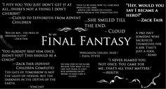 final fantasy quotes | Final Fantasy Quotes by SuperGohan2132 on deviantART