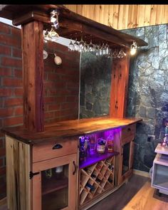 Liquor Cabinet, Base, Storage, Furniture, Home Decor, Shelving Brackets, Bar Home, Oak Tree, Wood