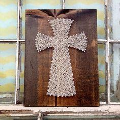 String Art Cross String Wall Art Christian String Art