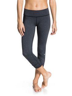 Roxy Energy Capri Pants-Graphite Heather