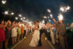 oh!myWedding: Ideas para utilizar bengalas en la boda