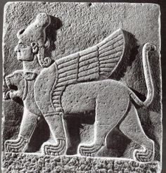Hittite, two-headed sphinxes, Kargamış, Museum of Anatolian Civilization (Kurt Bittel) (Erdinç Bakla archive)