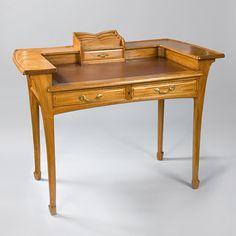 French Art Nouveau Desk Desks Furniture Antique Decorative Arts Tiffany Lamps Art Nouveau