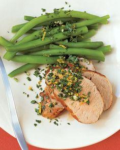 QUICK PORK RECIPES: Pork Tenderloin with Orange-Parsley Topping