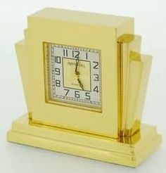wooden clock | Miniature art deco clocks made by Imperial