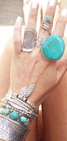Silver and Turquoise More
