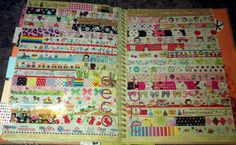 washi tape smash page (like the idea and maybe with scraps of favorite paper!)