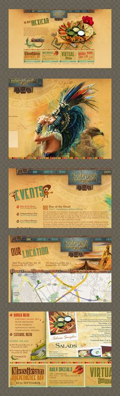 Sabroso Mexican grille restaurant by 4monkeys / andrey zmey , via Behance