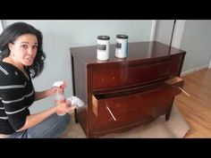 How to Paint a Dresser Using Beyond Paint - Furniture Makeovers: Thrift Diving - YouTube
