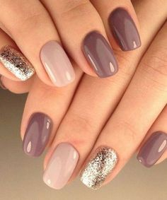 30 trendy glitter nail art design ideas for With glitter nails, brighten u. 30 trendy glitter nail art design ideas for With glitter nails, brighten up your summer looks. Manicure Nail Designs, Nail Manicure, Nail Polishes, Shellac Nails Fall, Purple Gel Nails, Shellac Pedicure, Gelish Nails, Mani Pedi, Nail Colours Shellac