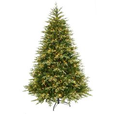 Donner & Blitzen 7.5' Pre-Lit Mountain Fir Christmas Tree -- Add Rustic Cheer to Your Holiday Decor