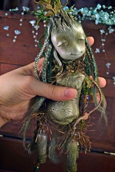 there is something so sweet about this little guy. Vinpervinca Mentolaniam - art doll fantasy creature