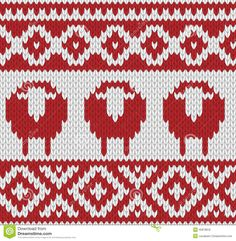 Knitted Seamless Winter Pattern - Download From Over 28 Million High Quality Stock Photos, Images, Vectors. Sign up for FREE today. Image: 45878916