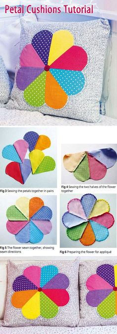 Ideas For Patchwork Cushion Cover Pattern Ideas Patchwork Cushion, Patchwork Patterns, Patchwork Quilting, Quilted Pillow, Quilt Block Patterns, Sewing Patterns, Patchwork Tutorial, Patchwork Ideas, Cushion Cover Pattern