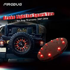 Firebug Jeep 3rd Brake Light LED, Jeep Light Accessories for Spare Tire, Jeep LED Brake Light, Jeep Wrangler JK 2007 - 2016, Red Light. For product info go to:  https://www.caraccessoriesonlinemarket.com/firebug-jeep-3rd-brake-light-led-jeep-light-accessories-for-spare-tire-jeep-led-brake-light-jeep-wrangler-jk-2007-2016-red-light/