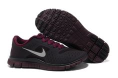 Womens Bordeaux Reflective Silver Nike Free 4.0 V2 Running Shoes