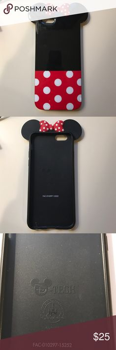 Minnie Mouse iPhone 6 case Adorable Minnie Mouse iPhone 6 case, awesome condition Disney Accessories Phone Cases