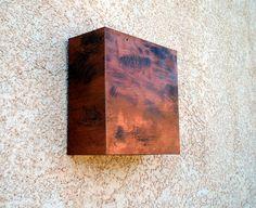 Square Copper Light Sconce