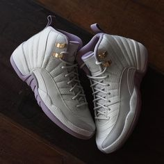 "Your lady will love these. Get the new Nike Air Jordan 12 Retro ""Plum Fog"" at kickbackzny.com."