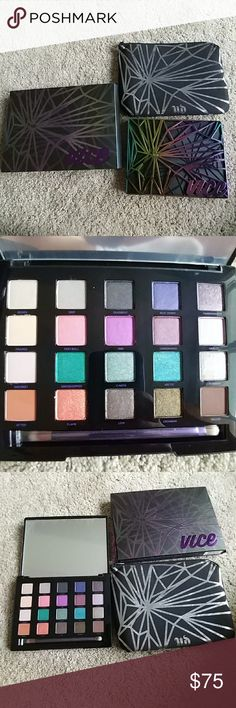 Urban Decay Vice 4 palette Only removed from box for photos.  New, never used or searched.  20 pigmented colors.  Bones, grip, deadbeat, beat down, pandemonium, framed, fast-ball, 1985, underhand, Harley, discreet, grasshopper, c-note, attic, robbery, bitter, flame, low, crowbar, delete.  Comes with brush and coordinating makeup bag for travel Urban Decay Makeup Urban Decay Vice Lipstick, Urban Decay Makeup, Ulta Lip Gloss, Urban Decay Velvetizer, Vice 4, Urban Decay All Nighter, Lip Tint, Ultra Violet, Makeup Yourself