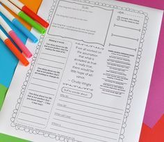 For upper grades- These are AMAZING journal pages!! At first I thought it was for a paid product...but NO...click on the page you want, then go to the bottom of the next page and you can choose with or without a border! Lots of terrific pages!!!