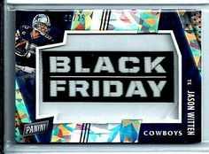 2016 Panini Black Friday Patch Jason Whitten Cracked Ice D# 03/25 Dallas Cowboys