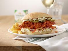 Buffalo Chicken Recipes, Buffalo Chicken Sandwiches, Boursin Recipes, Cheese Recipes, Boursin Cheese, Sandwich Recipes, Salmon Burgers, Cooking Recipes, Favorite Recipes