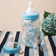 Perfectly Plain DIY Collection Giant Blue Baby Bottle Bank Container