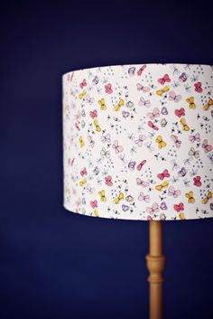 Pink butterfly lamp pink lampshade pink lamp by ShadowbrightLamps
