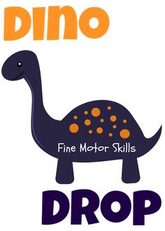 Frogs and Snails and Puppy Dog Tail (FSPDT): Dino Drop~ fine motor skills Dinosaurs For Toddlers, Dinosaurs Preschool, Dinosaur Activities, Toddler Class, Toddler Toys, Fine Motor Activities For Kids, Preschool Activities, Fine Motor Skills, T Rex