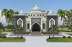 Model House Plan, New House Plans, Minimalist House Design, Modern House Design, Mosque Architecture, Beautiful Mosques, House Front Design, Amazing Buildings, House Elevation