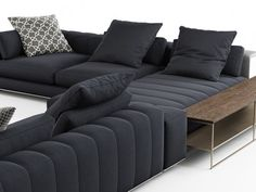 Minotti Freeman Corner Sofa System C computer generated model. Produced by Design Connected. Living Room Sofa Design, Living Room White, Living Room Modern, My Living Room, Corner Sofa And Chair, L Sofas, Sofa Home, Luxury Sofa, Sofa Set