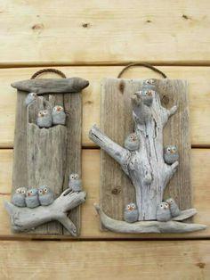 Driftwood Crafts and accessories to help with your driftwood projects. Stone Crafts, Rock Crafts, Arts And Crafts, Crafts With Rocks, Driftwood Christmas Tree, Christmas Tree Crafts, Driftwood Projects, Driftwood Art, Driftwood Ideas
